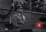 Image of Nazi Sturmabteilung leader addresses gathering for fallen soldiers Germany, 1933, second 5 stock footage video 65675039017