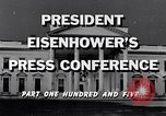 Image of President Eisenhower Washington DC USA, 1956, second 2 stock footage video 65675039052