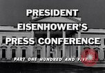 Image of President Eisenhower Washington DC USA, 1956, second 9 stock footage video 65675039052