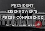 Image of President Eisenhower Washington DC USA, 1956, second 10 stock footage video 65675039052