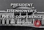 Image of President Eisenhower Washington DC USA, 1956, second 4 stock footage video 65675039055