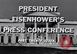 Image of President Eisenhower Washington DC USA, 1956, second 5 stock footage video 65675039055