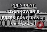 Image of President Eisenhower Washington DC USA, 1956, second 6 stock footage video 65675039055