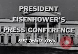 Image of President Eisenhower Washington DC USA, 1956, second 7 stock footage video 65675039055