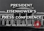 Image of President Eisenhower Washington DC USA, 1956, second 3 stock footage video 65675039057