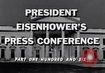 Image of President Eisenhower Washington DC USA, 1956, second 5 stock footage video 65675039057