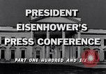 Image of President Eisenhower Washington DC USA, 1956, second 9 stock footage video 65675039057