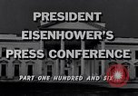 Image of President Eisenhower Washington DC USA, 1956, second 10 stock footage video 65675039057