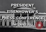 Image of President Eisenhower Washington DC USA, 1956, second 3 stock footage video 65675039059