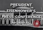 Image of President Eisenhower Washington DC USA, 1956, second 4 stock footage video 65675039059