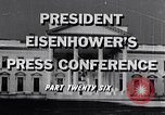 Image of President Eisenhower Washington DC USA, 1956, second 6 stock footage video 65675039059