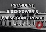 Image of President Eisenhower Washington DC USA, 1956, second 7 stock footage video 65675039059