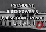 Image of President Eisenhower Washington DC USA, 1956, second 8 stock footage video 65675039059