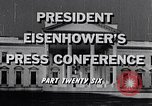 Image of President Eisenhower Washington DC USA, 1956, second 9 stock footage video 65675039059