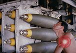 Image of airman near bomb bay of B-52 D bomber Thailand, 1969, second 5 stock footage video 65675039076