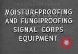 Image of United States Army Signal Corps equipments United States USA, 1944, second 12 stock footage video 65675039091