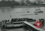 Image of collegiate boat race London England United Kingdom, 1963, second 10 stock footage video 65675039100