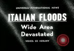 Image of floods in Sardinia Sardinia Italy, 1963, second 1 stock footage video 65675039103