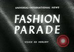 Image of model parade London England United Kingdom, 1963, second 1 stock footage video 65675039104