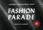 Image of model parade London England United Kingdom, 1963, second 2 stock footage video 65675039104