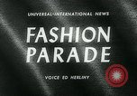Image of model parade London England United Kingdom, 1963, second 3 stock footage video 65675039104