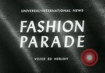 Image of model parade London England United Kingdom, 1963, second 4 stock footage video 65675039104