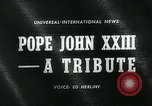 Image of Pope John XXIII United States USA, 1963, second 4 stock footage video 65675039117