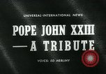 Image of Pope John XXIII United States USA, 1963, second 5 stock footage video 65675039117