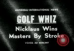 Image of Jack Nicklaus Augusta Georgia USA, 1963, second 1 stock footage video 65675039122