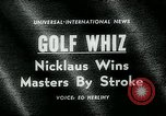 Image of Jack Nicklaus Augusta Georgia USA, 1963, second 2 stock footage video 65675039122