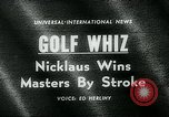 Image of Jack Nicklaus Augusta Georgia USA, 1963, second 4 stock footage video 65675039122