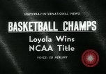 Image of College Basketball Tournament Louisville Kentucky USA, 1963, second 4 stock footage video 65675039138