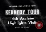 Image of John Kennedy Ireland, 1963, second 1 stock footage video 65675039163