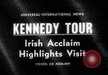 Image of John Kennedy Ireland, 1963, second 3 stock footage video 65675039163