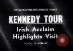 Image of John Kennedy Ireland, 1963, second 4 stock footage video 65675039163