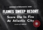 Image of Atlantic City fire Atlantic City New Jersey USA, 1963, second 1 stock footage video 65675039169