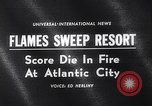 Image of Atlantic City fire Atlantic City New Jersey USA, 1963, second 3 stock footage video 65675039169