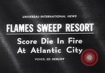 Image of Atlantic City fire Atlantic City New Jersey USA, 1963, second 4 stock footage video 65675039169