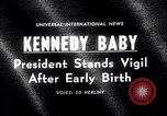 Image of John Kennedy visits son Patrick Bouvier Kennedy Otis Air Force Base Massachusetts USA, 1963, second 1 stock footage video 65675039182
