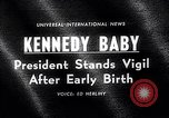 Image of John Kennedy visits son Patrick Bouvier Kennedy Otis Air Force Base Massachusetts USA, 1963, second 2 stock footage video 65675039182