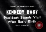 Image of John Kennedy visits son Patrick Bouvier Kennedy Otis Air Force Base Massachusetts USA, 1963, second 4 stock footage video 65675039182