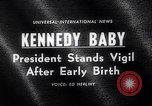 Image of John Kennedy visits son Patrick Bouvier Kennedy Otis Air Force Base Massachusetts USA, 1963, second 5 stock footage video 65675039182