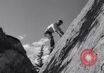 Image of Mountain Climbing in the 1960s Banff Alberta Canada, 1963, second 7 stock footage video 65675039202