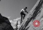 Image of Mountain Climbing in the 1960s Banff Alberta Canada, 1963, second 8 stock footage video 65675039202