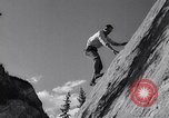 Image of Mountain Climbing in the 1960s Banff Alberta Canada, 1963, second 9 stock footage video 65675039202