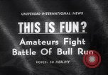 Image of Running of bulls Pamplona Spain, 1963, second 1 stock footage video 65675039203