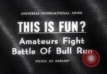 Image of Running of bulls Pamplona Spain, 1963, second 2 stock footage video 65675039203