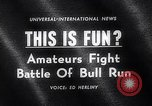 Image of Running of bulls Pamplona Spain, 1963, second 3 stock footage video 65675039203