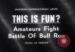 Image of Running of bulls Pamplona Spain, 1963, second 4 stock footage video 65675039203