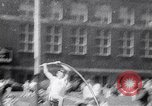 Image of John Pennel pole vaults after setting record Coral Gables Florida USA, 1963, second 10 stock footage video 65675039211